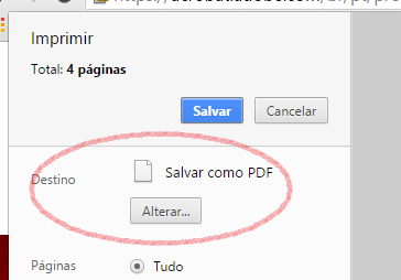 Salvar como PDF no Chrome